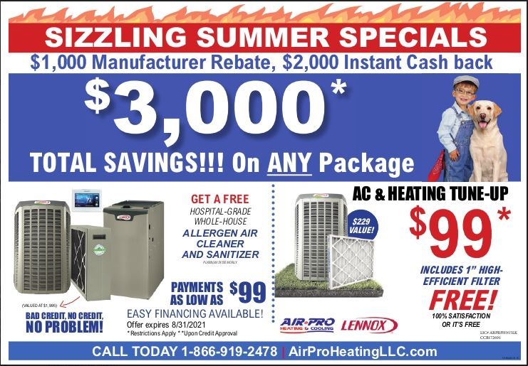 HVAC Promotions for August in The Pacific Northwest Area - Portland - Vancouver Washington